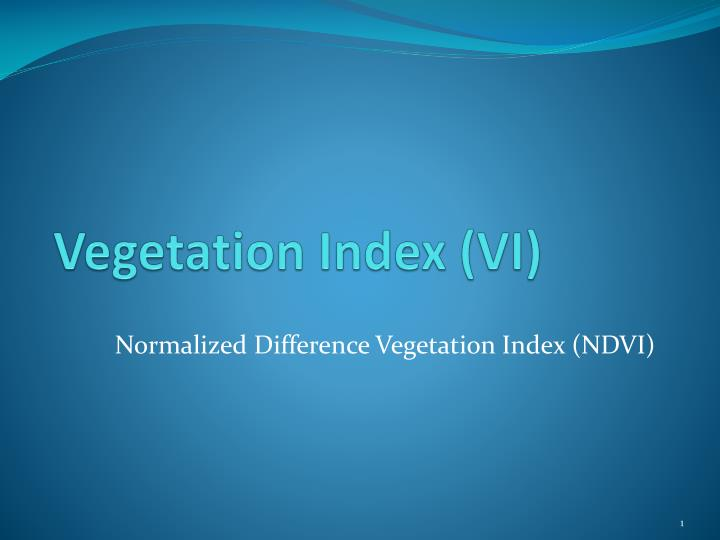 vegetation index vi n.