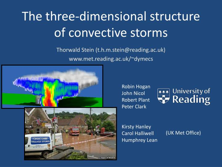 the three dimensional structure of convective storms n.