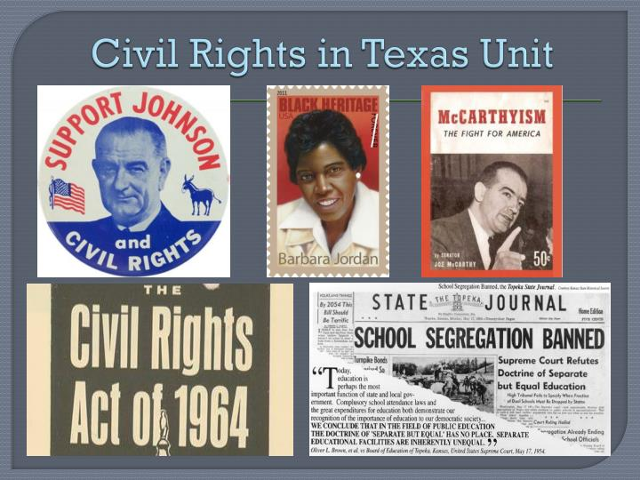 civil rights in texas unit n.