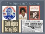 civil rights in texas unit