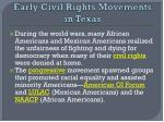 early civil rights movements in texas