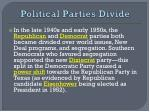 political parties divide