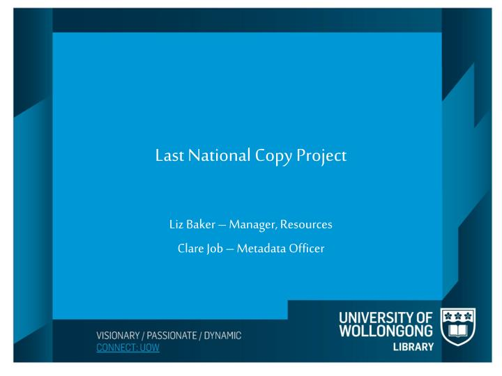 last national copy project n.