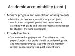 academic accountability cont