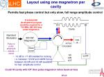 layout using one magnetron per cavity