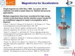 magnetrons for accelerators