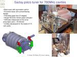 saclay piezo tuner for 700mhz cavities