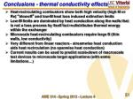 conclusions thermal conductivity effects