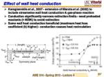 effect of wall heat conduction