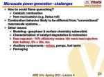 microscale power generation challenges