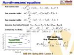 non dimensional equations