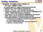 scaling turbulence