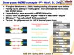 some power mems concepts p 3 wash st univ