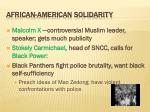 african american solidarity
