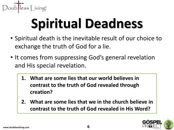 Spiritual Deadness