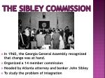 the sibley commission