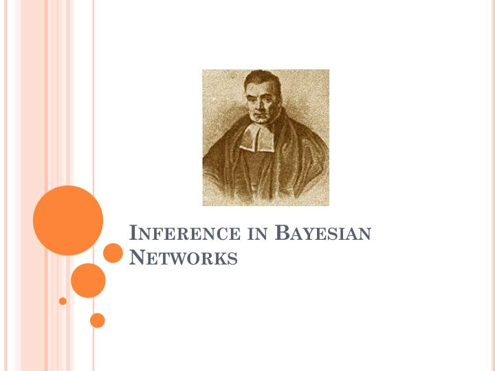 inference in bayesian networks n.