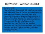 big winnie winston churchill