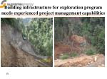 building infrastructure for exploration program needs experienced project management capabilities