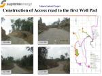 muara laboh project construction of access road to the first well pad
