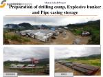 muara laboh project preparation of drilling camp explosive bunker and pipe casing storage