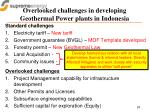 overlooked challenges in developing geothermal power plants in indonesia