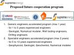 proposed future cooperation program