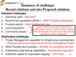 summary of challenges recent solutions and also proposed solutions