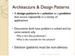 architecture design patterns