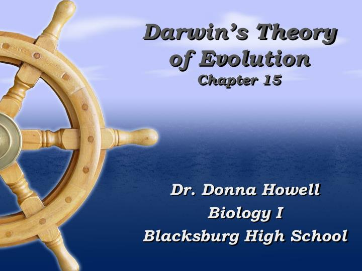 darwin s theory of evolution chapter 15 n.