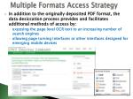 multiple formats access strategy
