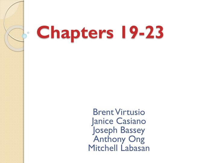 chapters 19 23 n.