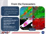 from the forecasters