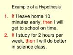example of a hypothesis