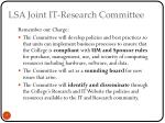 lsa joint it research committee