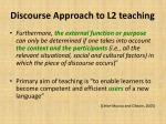 discourse approach to l2 teaching1
