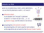attacks on rsa