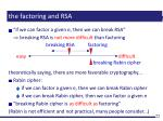 the factoring and rsa