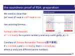 the soundness proof of rsa preparation