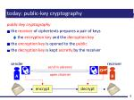 today public key cryptography