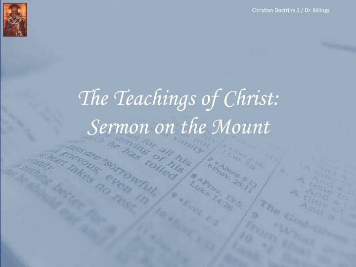 the teachings of christ sermon on the mount n.