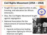 civil rights movement 1954 1968