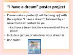 i have a dream poster project
