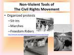 non violent tools of the civil rights movement
