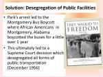 solution desegregation of public facilities