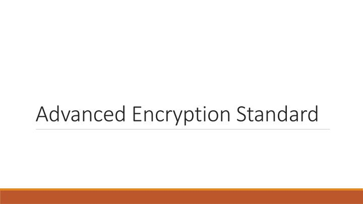 advanced encryption standard n.