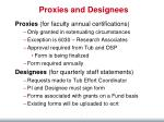 proxies and designees