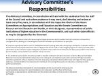 advisory committee s responsibilities