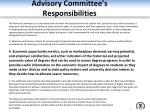 advisory committee s responsibilities2