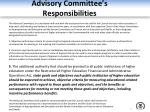 advisory committee s responsibilities3